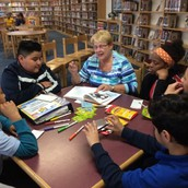 ELL Students Work with Distinguished Math Teacher