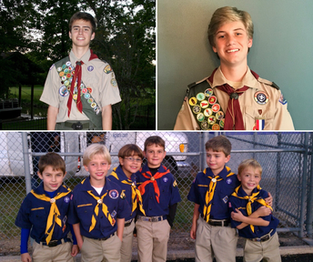PHILLIPS AND OBLUDA EARN EAGLE SCOUT STATUS