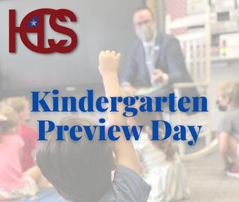 Kindergarten Preview Day Program