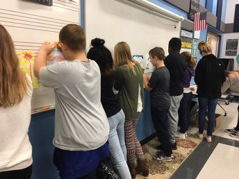 Mrs. Hazel's chorus class giving kind, specific, and helpful feedback