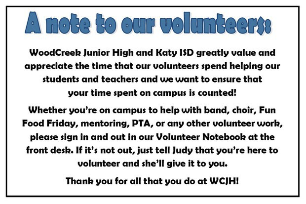report hours contact Julie Aasmyr at: vips@wcjhpta.com
