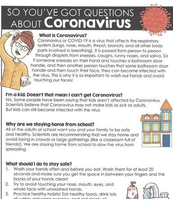 Questions About Coronavirus?
