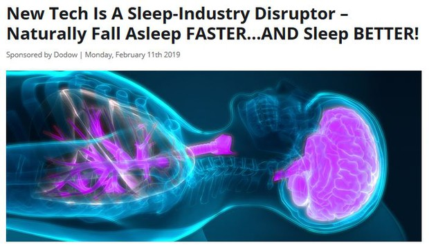New Tech is a sleep industry disruptor - Naturally fall asleep faster and sleep better