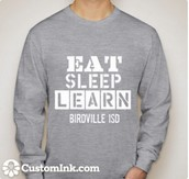 EAT, SLEEP, LEARN T-shirts Have Been Ordered!