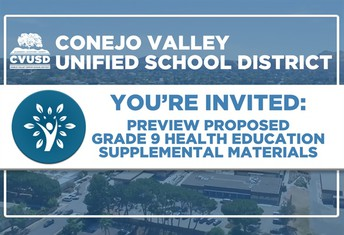 You're Invited: Upcoming Preview Night for Proposed Grade 9 Health Education Supplemental Materials