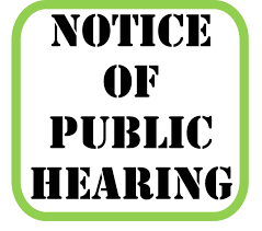 Upcoming Public Hearing
