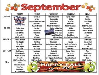 September Menu