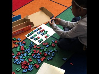 Spelling fun with manipulatives