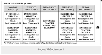 August 31-September 4