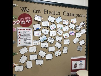 We are Health Champions! Our SMART goals for January!