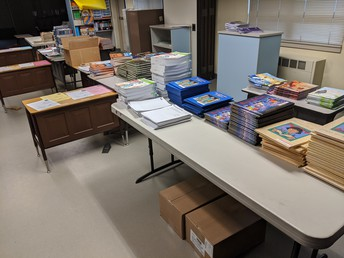 Materials ready for distribution!