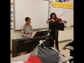Many of our students participate in Band, Orchestra, and Chorus
