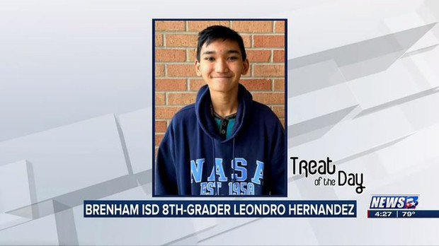 Treat of the Day: Brenham ISD 8th-grader Leondro Hernandez wins VFW local writing contest