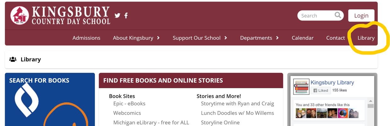 Visit the new library webpage!