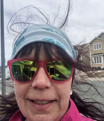 Ms. Pike out for a run