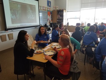 Eating with our Pen Pals