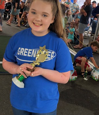 Summer wins 3rd place overall at the Toad Suck Toad Race
