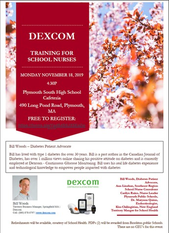 DEXCOM TRAINING FOR SCHOOL NURSES