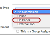 Creating a Grade Column for Participation and Paper Submissions