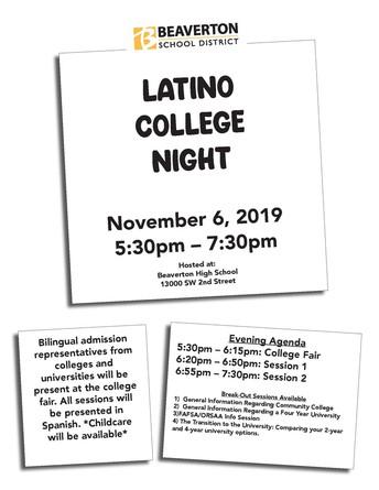 Latino College Night