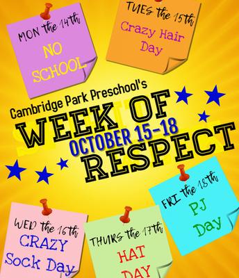 Cambridge Park's Week of Respect 🏆