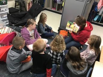 Jr High readers visit our school