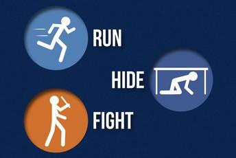Run, Hide, Fight Drill
