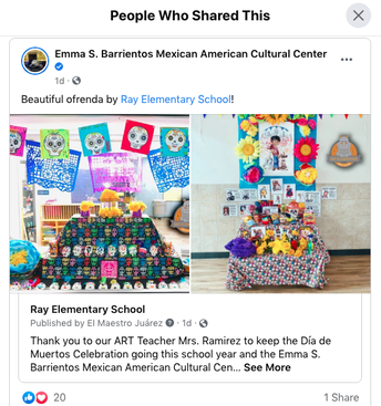 Our Ofrenda reached the MACC