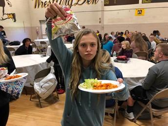 Senior showcasing lunch!