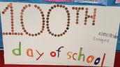 The Onehundredth day of school!