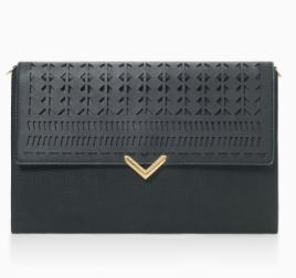 City Slim Clutch - Black Perf