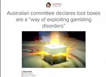 Loot Crates and The Effect of Gambling on Minors