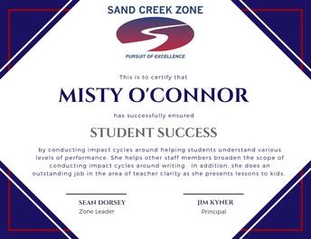 Zone Identity Award - Misty O'Connor