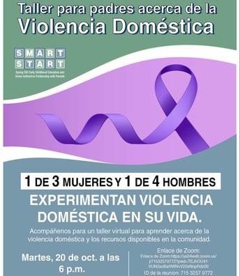 Taller para padres acerca de la Violencia Doméstica