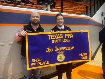 Lauren Grubbs ocupa el quinto lugar en el concurso estatal FFA.