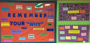 Remember your why bulletin board