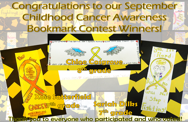 Childhood Cancer Bookmark Contest Winners 2018