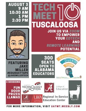 10th Annual Tech Meet Tuscaloosa: August 3, 2020