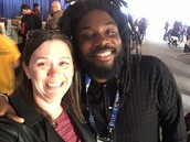 Ms. Near - Librarian (and Jason Reynolds - author of The Boy in the Black Suit and Ghost!)