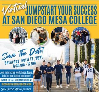 Jumpstart Your Success at Mesa College