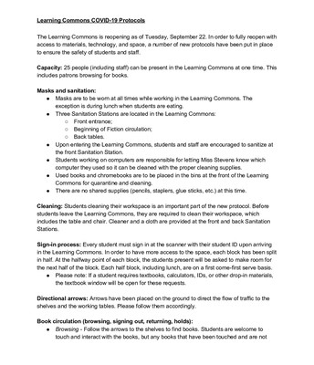 NEW Learning Commons Protocols