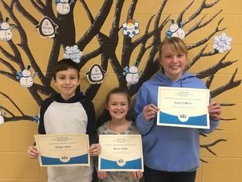 4-5 Spelling Bee Winners