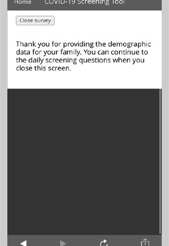 """Click """"Close survey"""""""