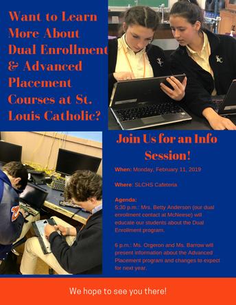 AP/Dual Enrollment Info Session is Feb. 11