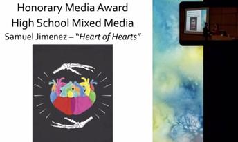 Screenshot of slideshow honoring Samuel Jimenez with the Honorary Media Award.