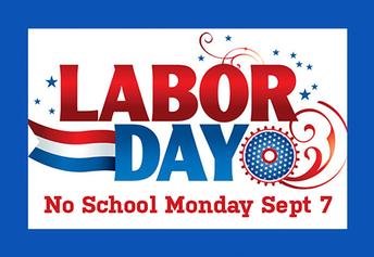 No School Monday September 7