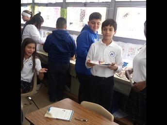 7th Grade celebrating Dia de los Muertos