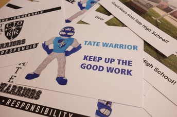 positive office referral & postcards
