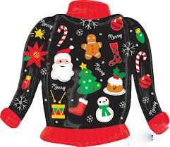Reminder: Tacky/Festive Christmas Sweaters and PJs Next Week!