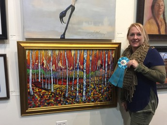 Art Teacher Wins 6 Awards at the Spirit of the West Art Show